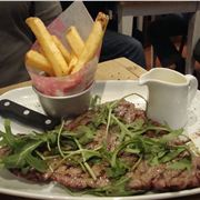Chargrilled minute steak and chips