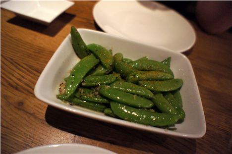 Sugarsnap peas pepperoncino