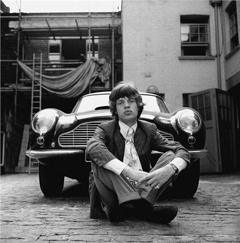 Mick Jagger Aston Martin By Mankowitz