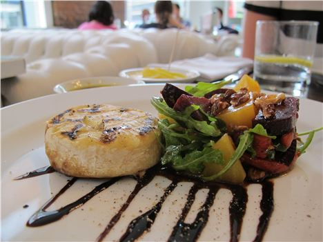 Grilled Tomino goats cheese