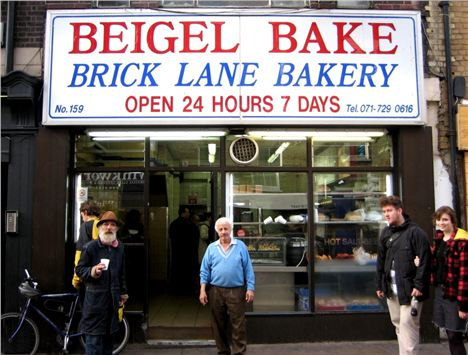 The infamous Brick Lane Beigel Bake