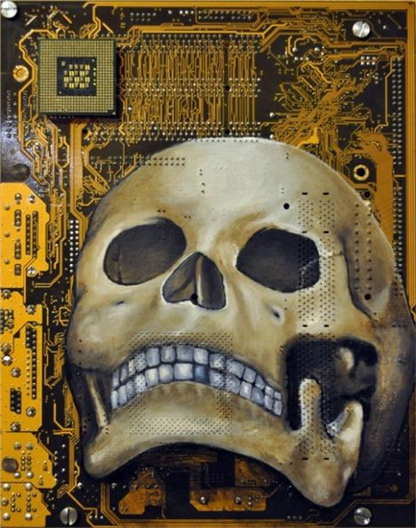 Circuit Board Paintings By Joe Dragt