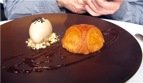 Jaffa cake with Earl Grey ice cream