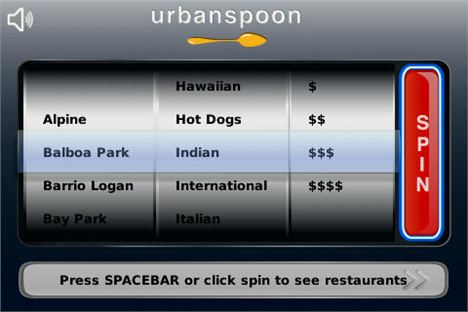 Urbanspoon-Blackberry