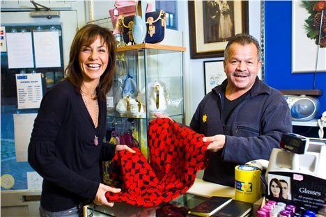 Julia Bradbury At The Marie Curie Shop In Richmond