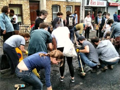 Scrubbing after London riots