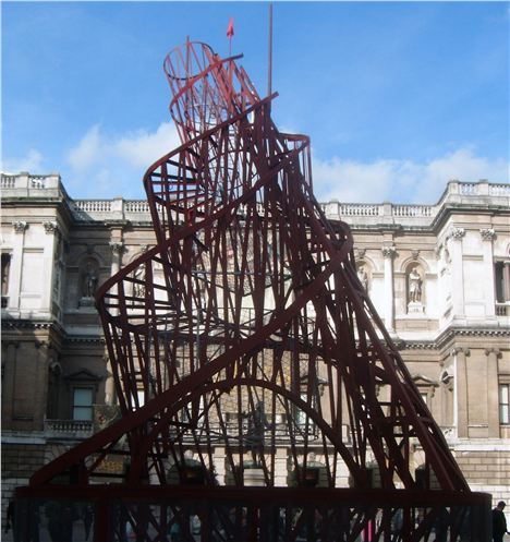 Tatlin's Tower- A monument to Socialism bang in the middle of the Royal Academy. John Lenehan.