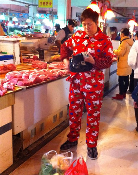 Hello Kitty lady in Shanghai