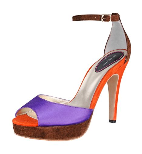 Purple %26#38%3B Orange Platform Sandal