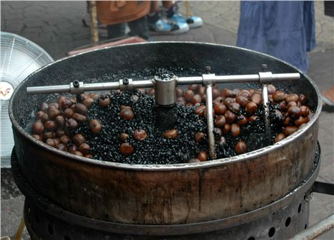 Chestnuts roasted in coffee beans