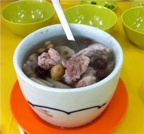 Chinese/Malay pork soup with dates, lotus root and black fungus