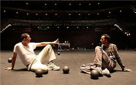 Anthony Gormley (left) and Hofesh Shechter