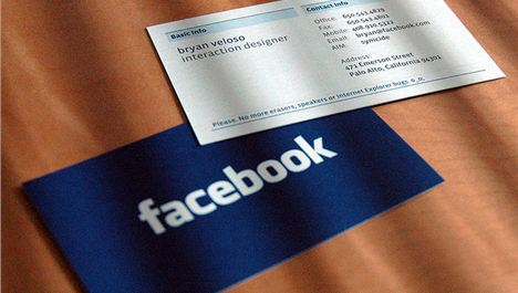 Facebook's Anti-Business Card