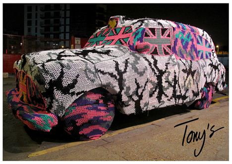 Olek crochet car
